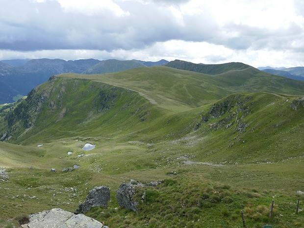 Blick in Gehrichtung zum Bärennock, den ich auf dieser Tour überschreiten werde.