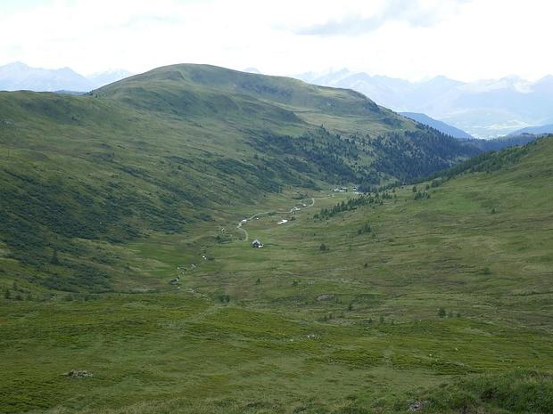 Blick Richtung Karner Alm und zur Mühlhauser Höhe
