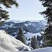Ausblick in die Allgäuer Alpen zum Hochvogel