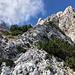 Im Aufstieg zur Velika (Koroška) Baba - Immer wieder gibt's nun Kraxelpassagen, hier in der Nähe des Sattels.