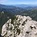 Velika (Koroška) Baba - Blick zur Mala Baba und dem anschließenden grob nord-/nordwestwärts verlaufenden Gratrücken.