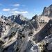 Velika (Koroška) Baba - Ausblick. In Bildmitte ist der Savinjsko sedlo (Sanntaler Sattel) zu sehen, über den unser Zustieg aus Richtung Logarska dolina (Logartal) erfolgte.