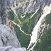 Dal Crodo Fiscalino lostrapiombo di 700 mt.