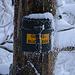 Fotos der Tour vom 15.1.2021:<br /><br />Der Gipfelbuchbehälter auf dem Helfenberg / Bilsteinberg (1123,9m).<br />