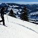 Al3Star unterwegs mit Schneeschuhen.