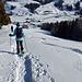 Abstieg über die Hasenmatt mit tollen Spuren im Schnee von meinem Sohn :-D