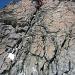 Kletterpassge in festem Fels zum Mittelgipfel