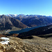 The panorama of the Italian side with the man made lake, Reschensee / Lago di Rèsia