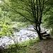 Ponte sulla Breggia, in secca, a Crotta.