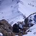 Kletterstelle über dem Skidepot
