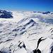 Piz Por Südwestgipfel (3023m):<br /><br />Gipfelaussicht nach Süden in Richtung Italien über den Piz Spadolazzo (2722m).