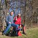 Foto zum einjährigen Jubiläum des Gipfelbuches auf der Schauenburgfluh vom 1.3.2021:<br /><br />Kleine Rast unterhalb der Ruine Neu Schauenburg in der herrlich wärmenden Frühlingssonne.