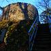 Foto zum einjährigen Jubiläum des Gipfelbuches auf der Schauenburgfluh vom 1.3.2021:  Natürlich besuchten wir auf dem Rückweg noch die Ruine Alt Schauenburg (645m).