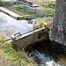 An einem Nebenarm des Altbachs wird ein Teil des Wassers ausgeleitet.