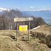 Der Trail hinunter nach Resa ist im Moment gesperrt.