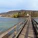 Auf der Brücke zur Insel Werd.