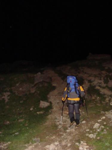 Aufstieg in der Nacht