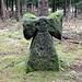 Mord- oder Sühnekreuz, auch Antoniuskreuz genannt, die Form ist ein Malteserkreuz mit abgeschlagenem Kopfteil