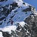 Dani im Abstieg auf den untersten Metern vom Bortelhorn Südwestgrat.