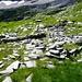 Miligorn - die Grundrisse der Alphütten sind noch zu erkennen