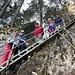 anregender Abstieg - mit leicht ungewöhnlichem Gruppenbild