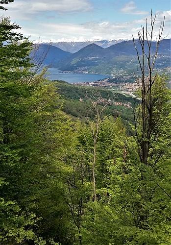 La vista sul Lago di Lugano.