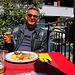 Andelfingen (499m): Herrlich, auf der Terrasse zuerst gemültlich Mittagessen vor dem Spaziergang :-)