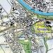 Karte von Andelfingen und Lage vom Müliberg.
