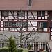 Foto vom 18.3.2021: Der historische Dorfkern von Andelfingen (399m) besteht aud schönen Rigelhäusern
