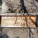 Schild des ehemaligen Kletterclubs Churfirsten beim Aufstieg zum Chammsässli