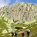 Im Aufstieg zur Bergseehütte welche ganz knapp ersichtlich ist.
