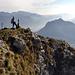la vetta del Moregallo. Ben visibile il profilo del Monte Barro.