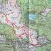 Karte zum Feldberg (1493,0m) und Seebuck (1448,2m) mit eingezeichneter Route.