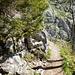 Einstieg in den gesicherten Steig zum Kofel