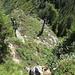 Rückblick auf den steilen Aufstieg auf den Rot Dossen.