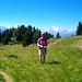 Der Weg zum Riederhorn führt durch herrliche Wiesen