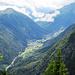 Das Tal in Richtung Chamonix.