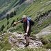 Der steile Weg zum Brunnelistock, das ist ein Steiss