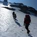 Von Punkt 3206m über den Gletscher zum Gipfel