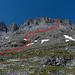 Ungefähre Abstiegsroute durch die Tschingelgrat-S-Flanke