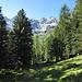 Blick in Richtung Alp Mulix kurz vorbei Punkt 1955m.