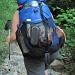 Lastesel mit geflicktem Rucksack  nb: da ist alles drin, was es für 3 Wochen Ferien so braucht
