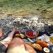 kleines Picknick am Rio Ara