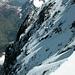 Obere N-Wand vom Gipfelgrat aus