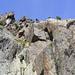 Kletterer aus einem der Übungsklettersteige fotografiert