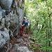 hier beschlossen wir, dass Klettersteigset doch zu nutzen - kein bisschen zu früh