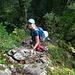 der Weg sucht sich die Felsen, wo es nur geht