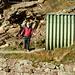 Giorgio all'uscita della gallerietta metallica sul sentiero per l'Unterer Schafberg