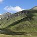 Passhöhe, dahinter rechts die Bielerspitze, links der Schattenkopf