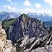 Die Seefelder Spitze vom Härmeler Kopf gesehen. Mit dem neuem Klettersteig.